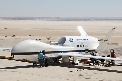 Photograph of NASA's Global Hawk UAV.