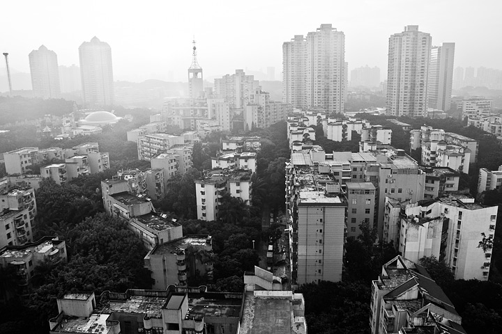 Haze in Shenzen, China.