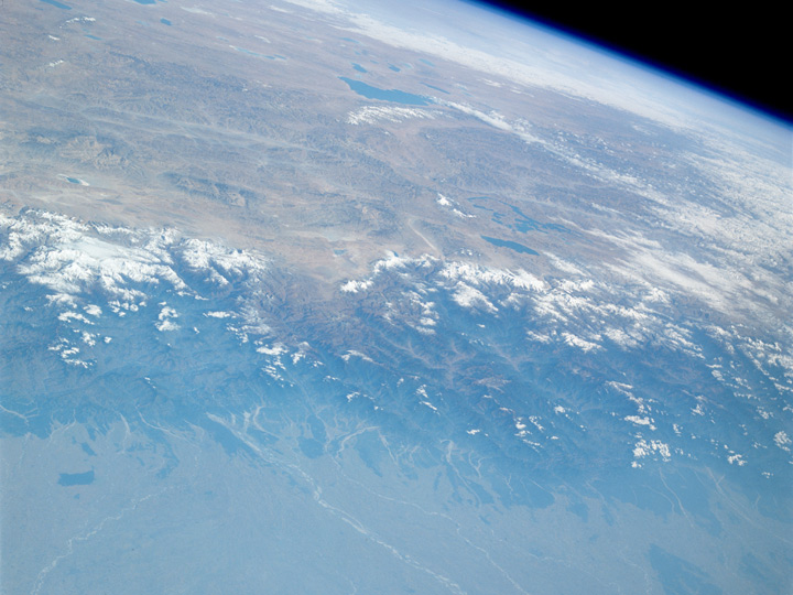 Photogrpah of the Himalaya from Space Shuttle Columbia (STS-09)