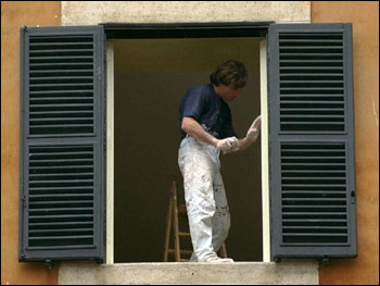 Photograph of a House Painter