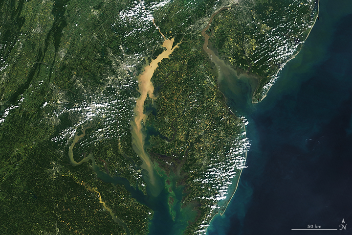 Studying Chesapeake Bay from Above