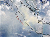 Satellite image of Smoke over Sumatra, 1997