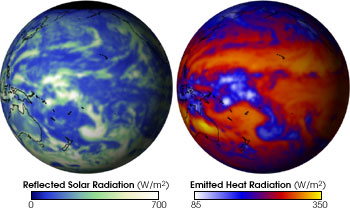 Maps of Reflected Shortwave and Emitted Longwave Radiation