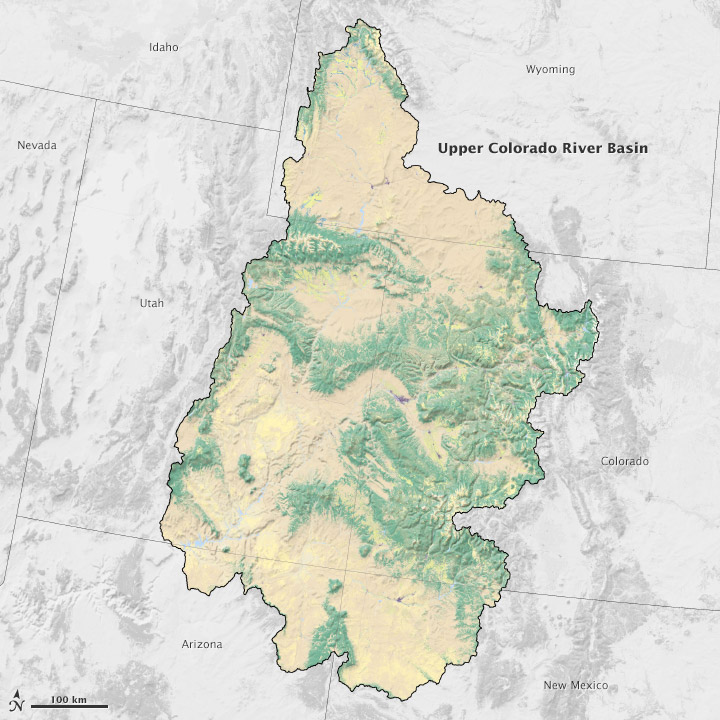 Map of the Uppaer Colorado River Basin.
