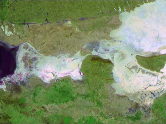 MISR satellite image of dewatering