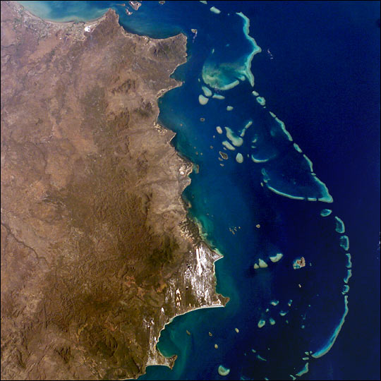 Photograph of the Great Barrier Reef