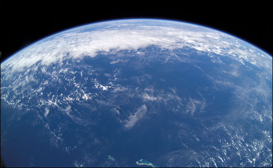 Wide Angle Photograph of the Earth
