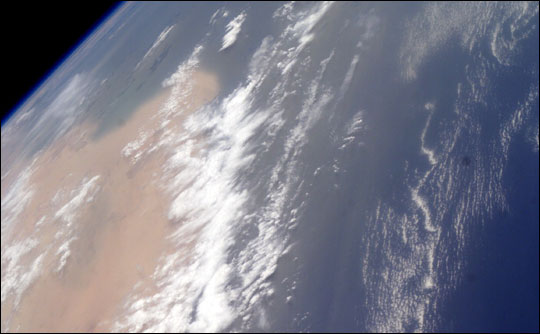 Photograph of Dust off the Coast of Western Africa
