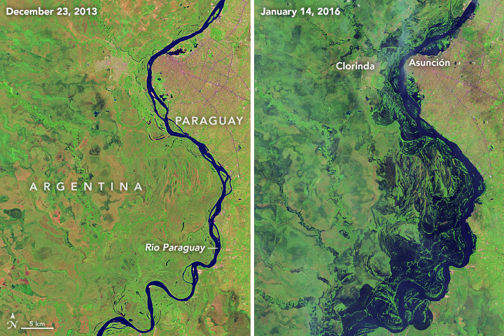 Image of flooding in Argentina and Paraguay width=