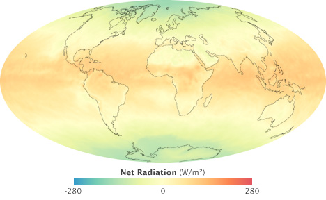 Map of net radiation for September 2008.