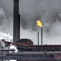 Photograph illustrating  greenhouse gas forcings.