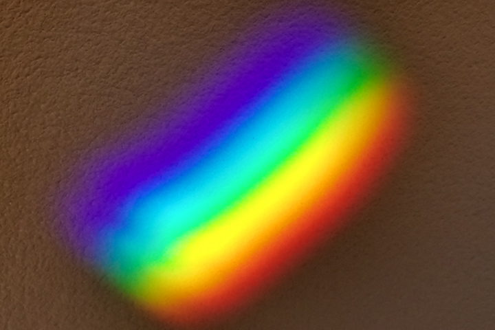 Photograph of the visible spectrum.