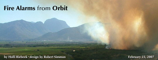 Fire Alarms from Orbit