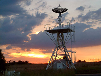Photograph of South African MODIS direct broadcast antenna.
