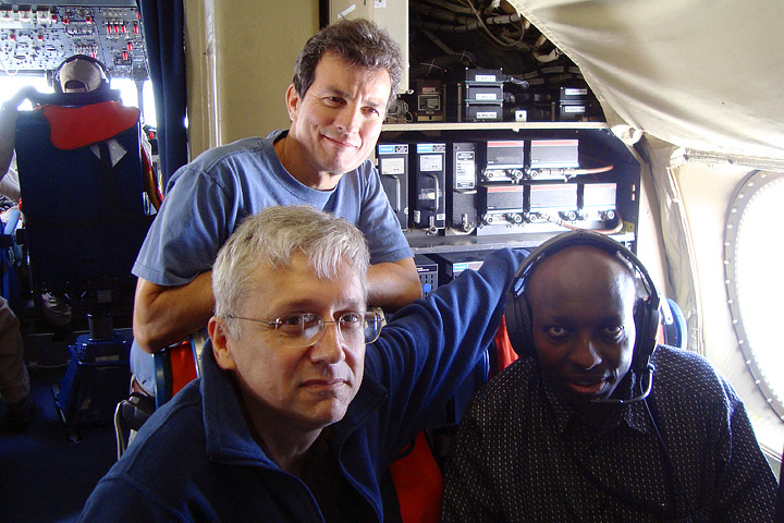 3 principle investigators for the ECO 3D field campaign aboard the NASA P3.