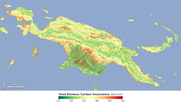 Map of biomass carbon uncertainty.