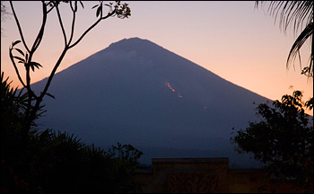 Modern photograph of Mount Agung, Indonesia