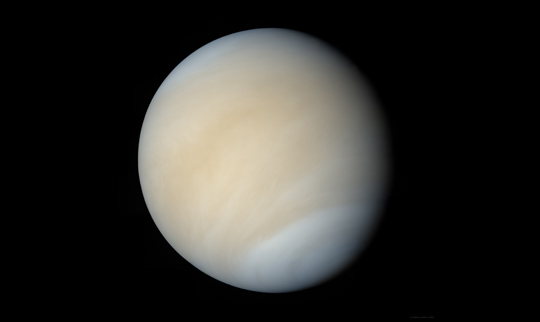 Image of Venus composited from Mariner 10 data