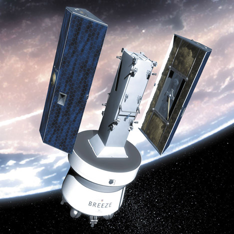 Image showing deployment of the twin GRACE satellites.