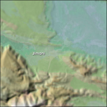 SRTM data acquired prior to the May 2004 flood event reveals that Jimani was built on a pre-existing floodplain.