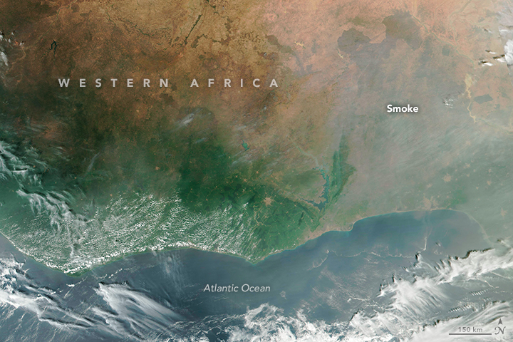 A smoky pall over Western Africa