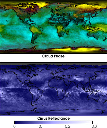 Maps of Cloud Phase and Cirrus Reflectance