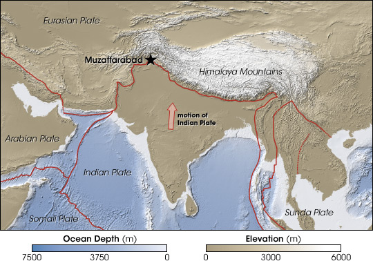 Map of south asian tectonic plates.