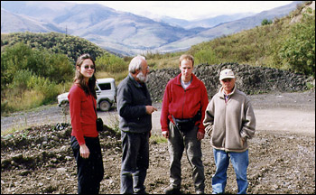 Photograph of the Russian Researchers at Karmadon