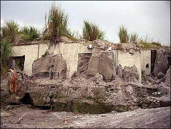 House buried by a lahar