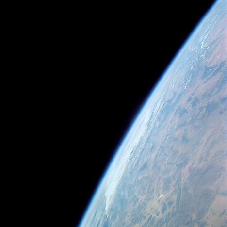 Astronaut photograph of the Earth's limb.