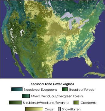 Map of Land Cover Classification
