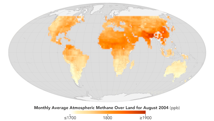 SCIMACHY provided scientists with measurements of methane in the atmosphere