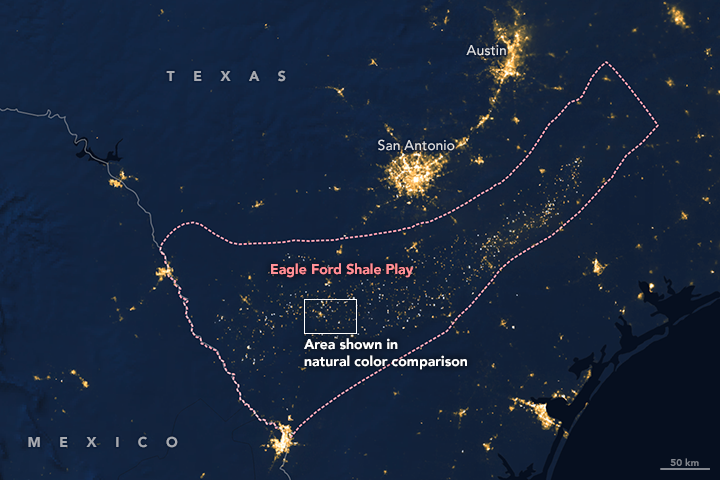 The Eagle Ford Shale Play in western Texas is home to numerous drilling sites