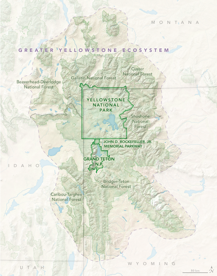 Map of the Greater Yellowstone Ecosystem