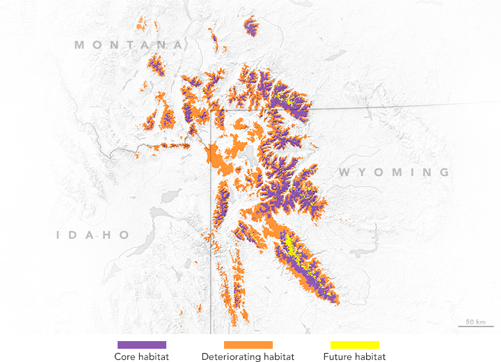 Map of habitat change within the Greater Yellowstone Ecosystem