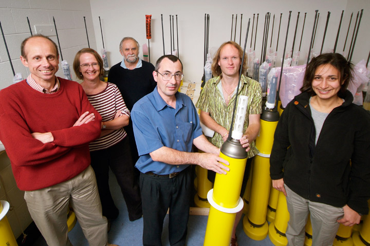 Photograph of the CSIRO team with Argo floats.