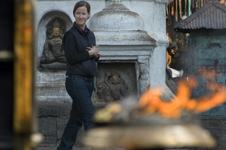 Dr. Kimberly Casey in Nepal.