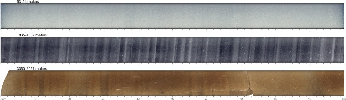 Photographs of Greenland cores