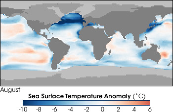 Sea surface temperature anomalies during the last glacial maximum derived from CLIMAP data