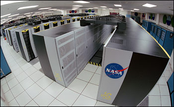 Photograph of the Columbia Supercomputer, NASA Ames Research Center