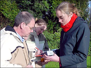 Photograph of Students Learning How to Use a Sun Photometer