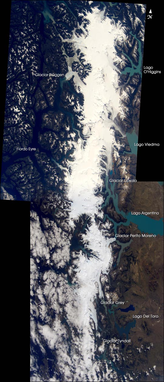 Mosaic of the Southern Patagonian Ice Field