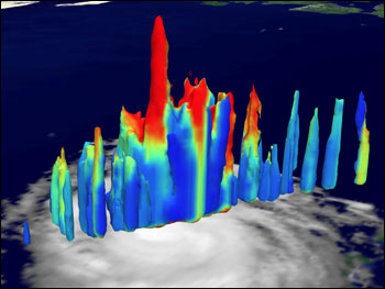 TRMM Image of Hot Tower in Hurricane bonnie