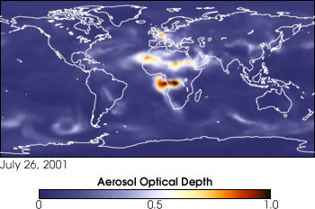 Model Data of Aersols July 26, 2001