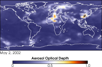 Model Aerosol Data from May 2, 2002