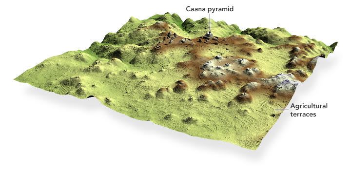 A 2.5—dimensional lidar image of Caracol, Belize.