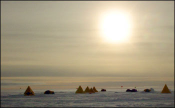 Photograph of Tents in Antarctica