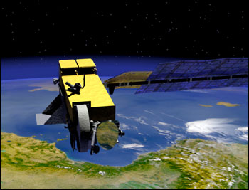 Render of the Aura Satellite