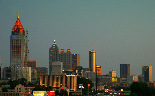 Photograph of the Atlanta skyline