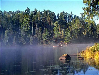 Photograph of a Pristine Lake in the Boundary Waters